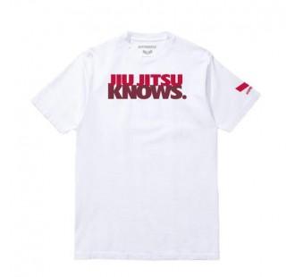 футболка JIU JITSU KNOWS.® Tee white/red