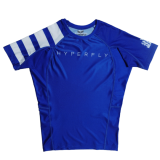 Short Sleeve Classic Ranked Rash Guard Blue