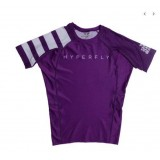 hyperfly Short Sleeve Classic Ranked Rash Guard purple