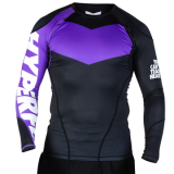 hyperfly Long Sleeve Supreme Ranked Rash Guard II purple