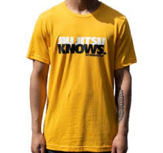 футболка hyperfly JIU JITSU KNOWS TEE yellow
