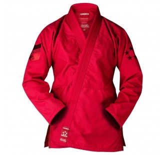 красное кимоно HYPERFLY STARLYTE BJJ GI  RED BURGUNDY