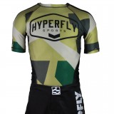 DO OR DIE HYPERFLY Sports Camo Rash Guard Short Sleeve