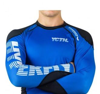 рашгард hyperfly Long Sleeve Supreme Ranked Rash Guard blue